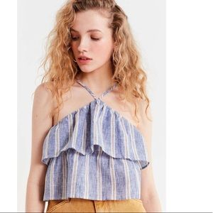 Urban outfitters stripe crop top